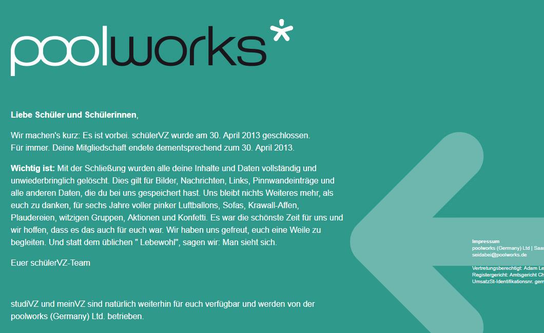 Screenshot von www.schuelervz.net