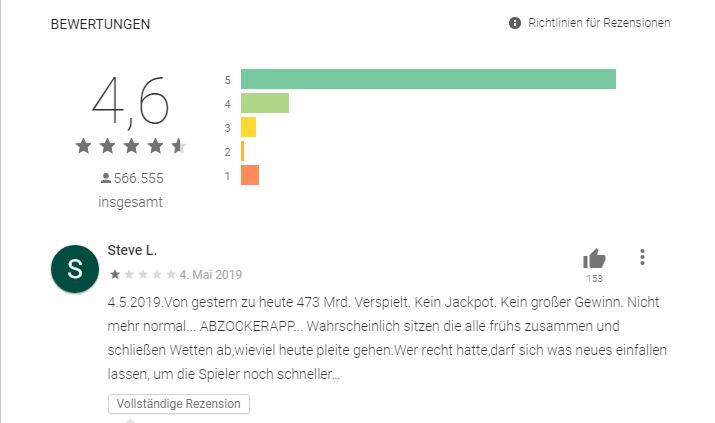Screenshot Play Store